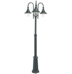 Elstead F7 Firenze Black Triple Lamppost